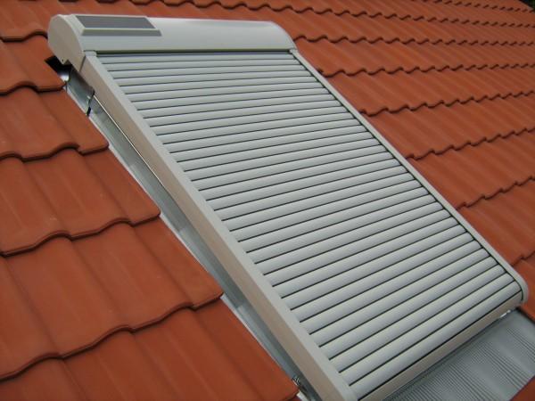 Solarrollladen hellgrau