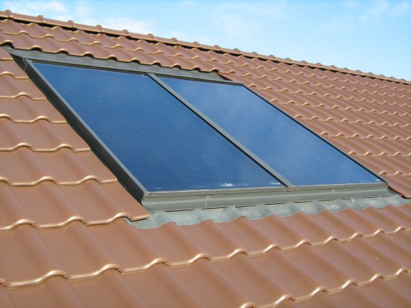dachintegrierte Solarthermie Anlage